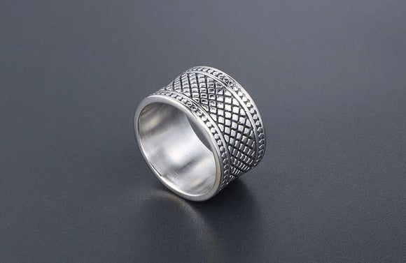 Wide Band with Design Ring