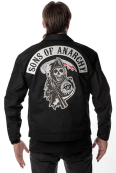 Sons of Anarchy Quilted Mechanics Men's Jacket With Front and Back Patch