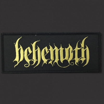 Behemoth gold logo patch