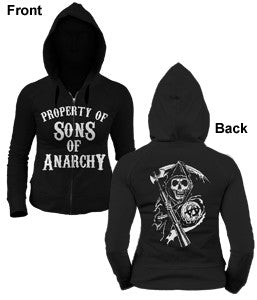 "Sons of Anarchy ""Property Of"" Women's Hoodie (Changes)"