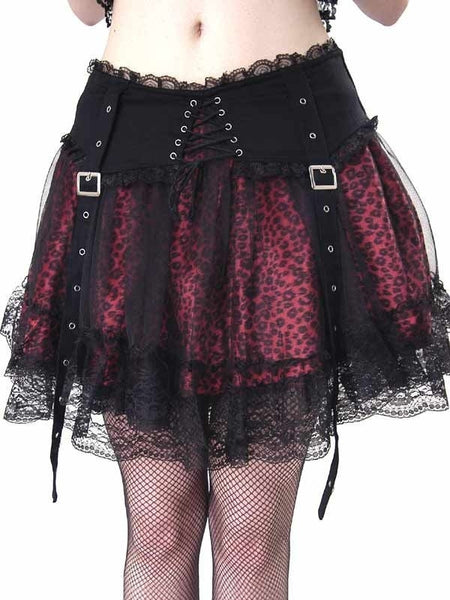 Gothic Punk Rock Layered Skirt (Queen of Darkness / EXTREME)