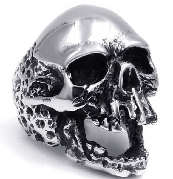 Open Mouth Skull Ring