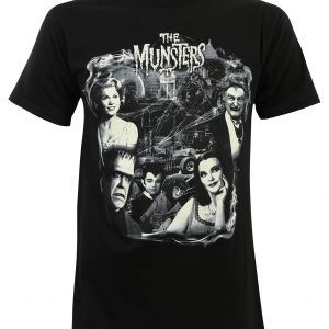 Munsters Family Collage T-Shirt