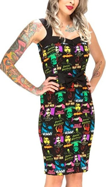 Universal Monsters Pin Up Pencil Dress