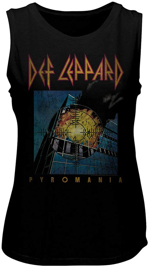 Def Leppard Faded Pyromania Muscle T-Shirt