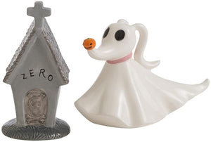 Nightmare Before Christmas Zero with House Salt and Pepper Shakers Set (2 Piece)