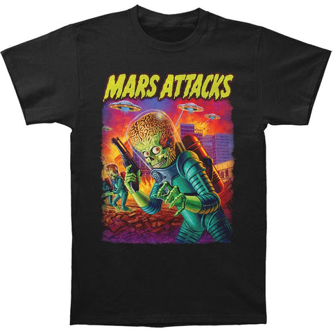 Mars Attacks UFOs Attack Men's T-Shirt (Impact Merch)
