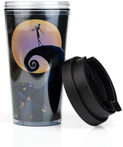 Nightmare Before Christmas Jack Skellington Glitter Travel Mug