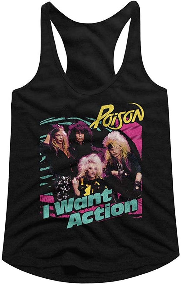 Poison I Want Action Racerback Tank Top