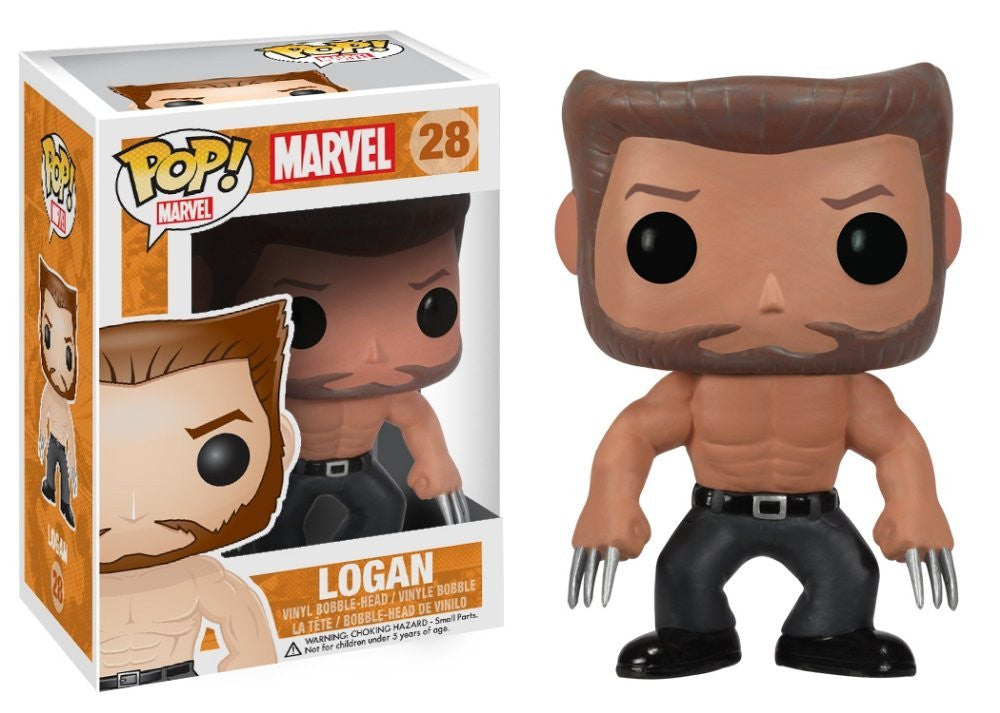 Logan Wolverine Bobblehead Pop Retired