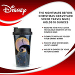 Load image into Gallery viewer, Nightmare Before Christmas Jack Skellington Glitter Travel Mug