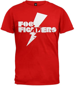 Foo Fighters Lightning Bolt Red T-Shirt