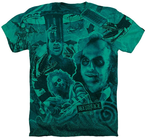 Beetlejuice Three Times The Charm Heather Kelly Green T-Shirt