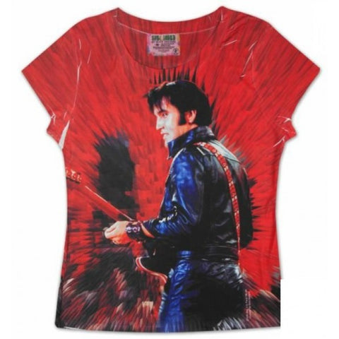 Elvis Sublimation '68 Women's Tee (Official Merchandise)