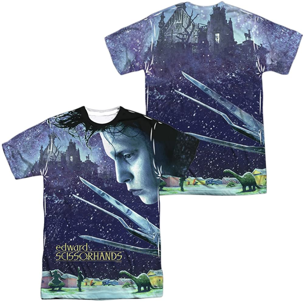 Edward Scissorhands Double Sided All Over Poster T-Shirt