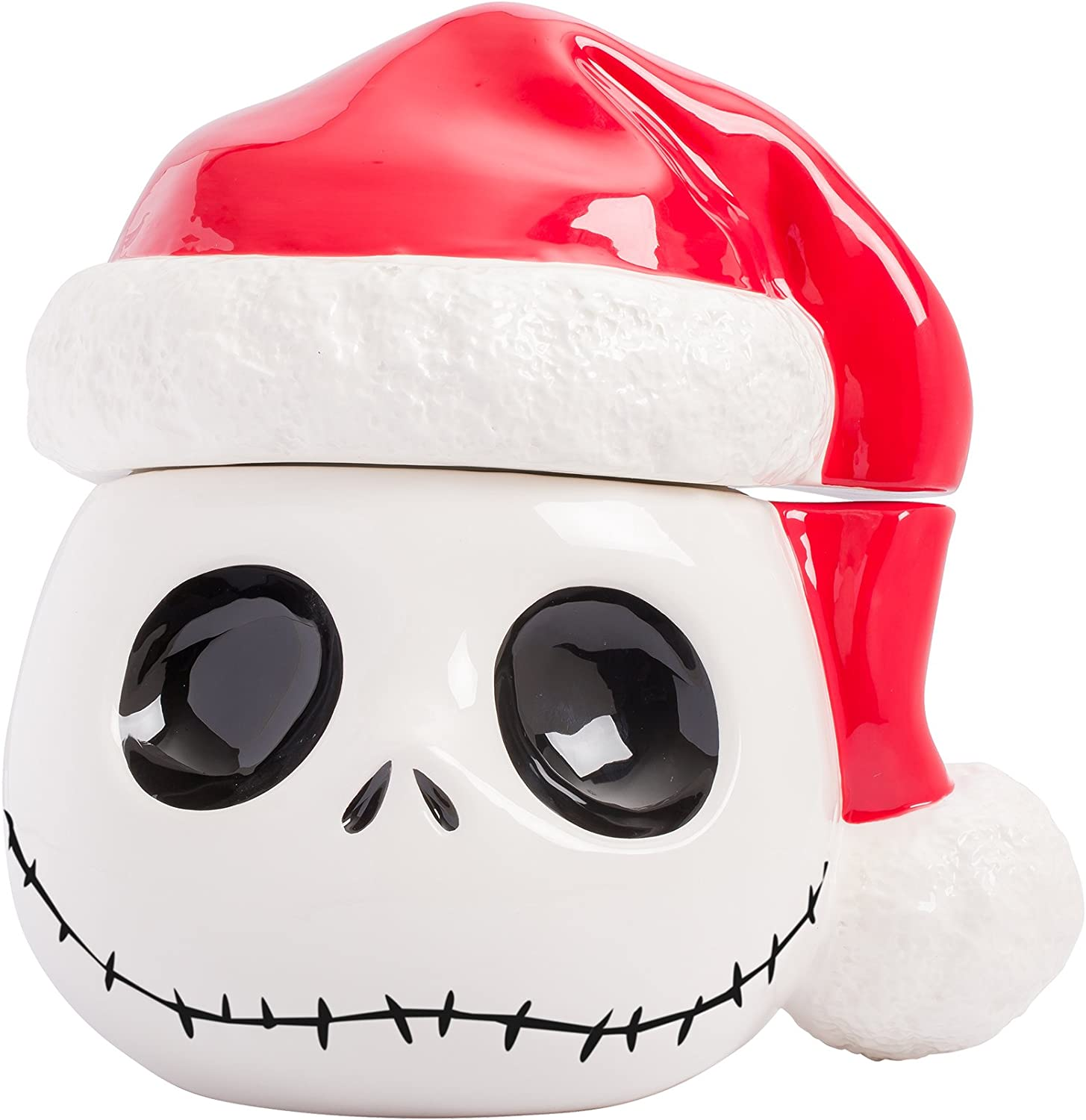 Nightmare Before Christmas Santa Jack Skellington Cookie Jar