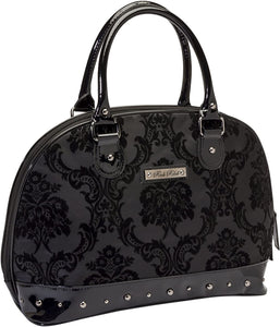 Damask Madame Weekender Overnight Bag Purse Black