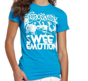 Aerosmith Sweet Emotion Soft Blue T-Shirt
