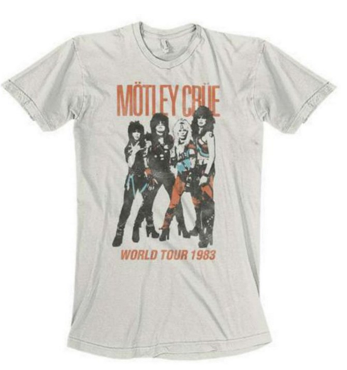 Motley Crue World Tour 1983 Soft White T-Shirt