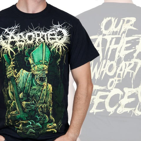 "Aborted ""Our Father"" Men's Tee w/ Back Print (IndieMerch)"