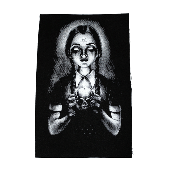 Homicidal Maniac Wednesday Addams Cloth Patch