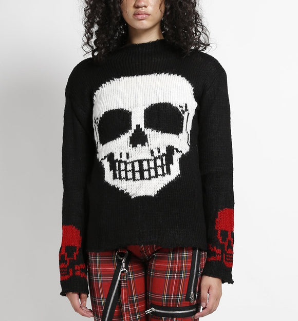 Skull Sweater (White Skull)