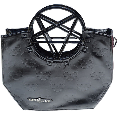 Pentagram Handle Purse Bag Black (Kreepsville 666)