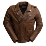 Load image into Gallery viewer, Sid Brown Leather Jacket for Men