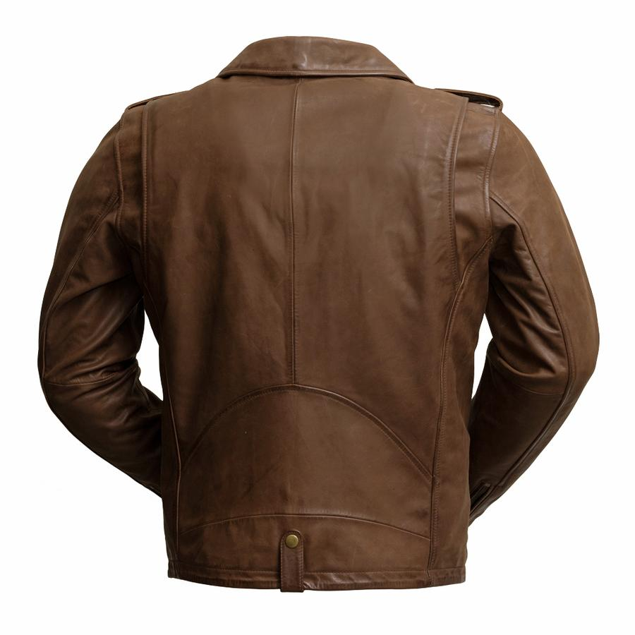 Sid Brown Leather Jacket for Men