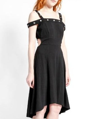 Hi-Low Grommet Dress
