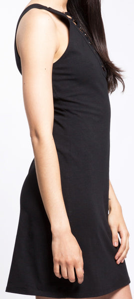 Tripp NYC Laced Neck Dress