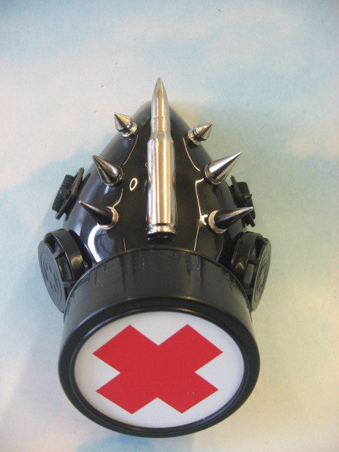 Cyber Medical Cross Respirator with Spikes and Bullet Detail