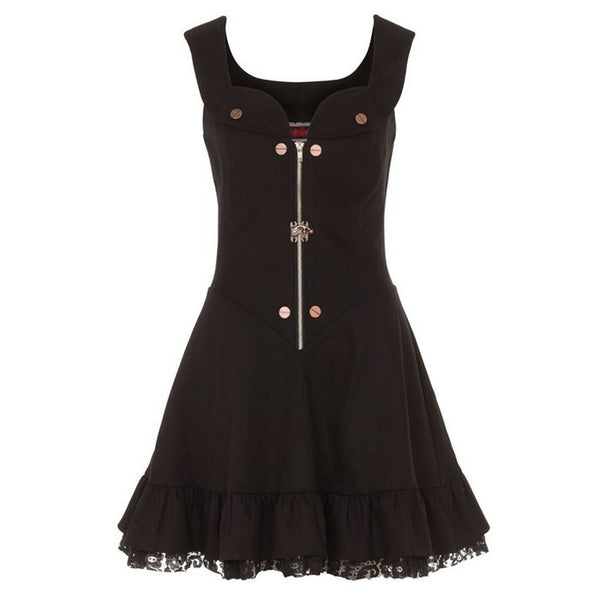 Steampunk Short Flare Dress (Jawbreaker)