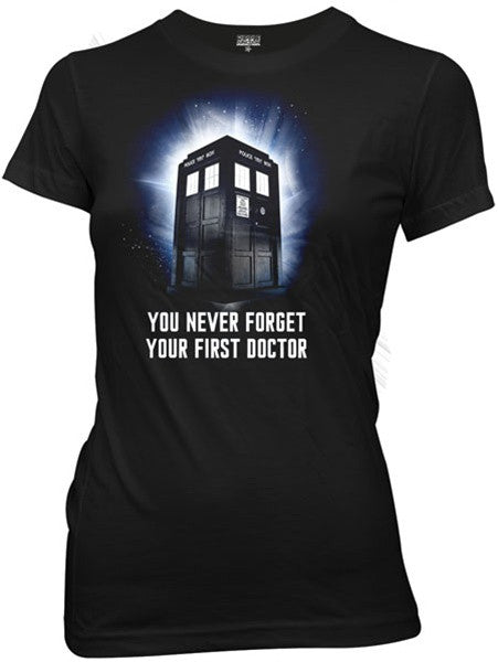 "Dr. Who ""Never Forget"" Women's Tee (Ripple Junction)"