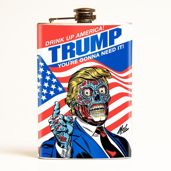Drink Up America! Trump Political Flask