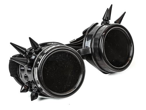 Black Spiked Steampunk Goggles
