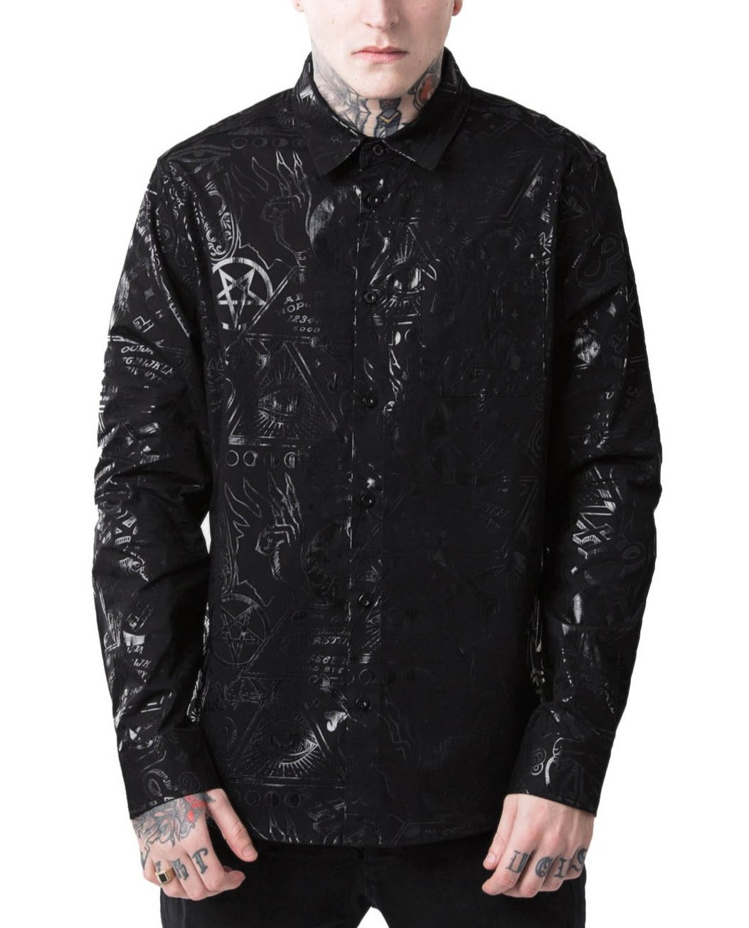 Grave Boy Button-Up Shirt