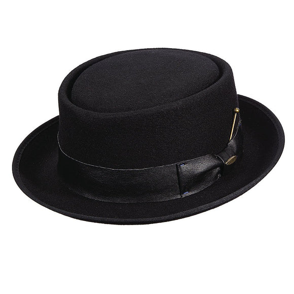 Debonair Crushable Wool Felt Porkpie Hat