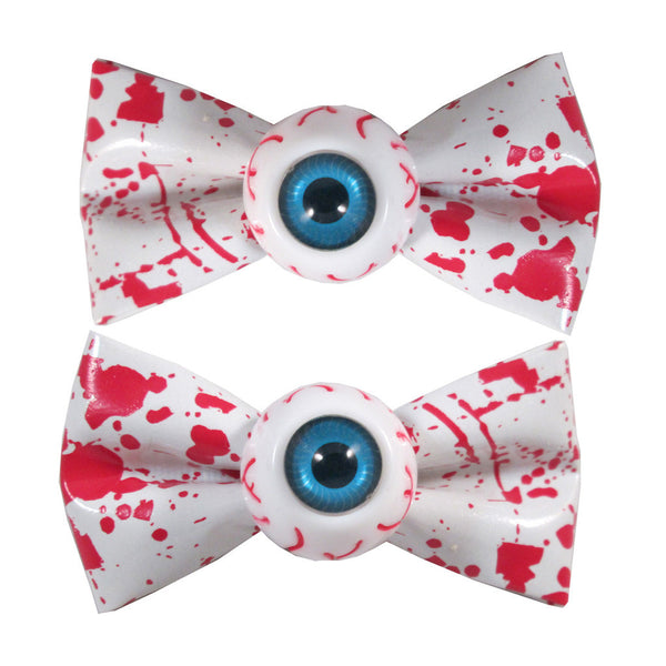 Eyeball Hairbow Slides Blood Splat White (Kreepsville 666)