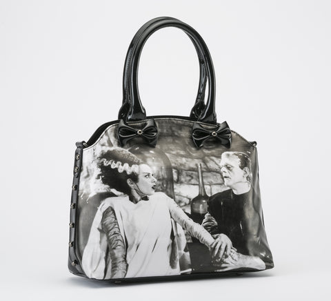 We Belong Dead Bride of Frankenstein Handbag VEGAN (Rock Rebel)