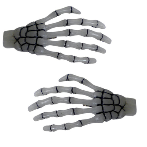 Skeleton Bone Hands Hairslides Glow in the Dark (Kreepsville 666)