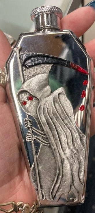 Coffin Shaped Reaper Flask