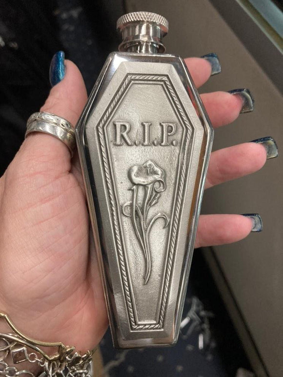 Coffin Shaped RIP Flask