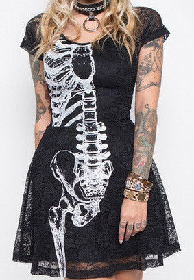 Wishbone Lace Dress (Iron Fist Clothing)