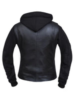 Load image into Gallery viewer, Lambskin Jacket with Hoodie