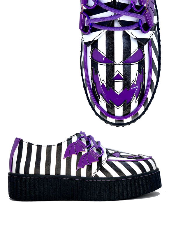 Krypt Scary Jack Purple Stripe Deetz Creeper Shoe