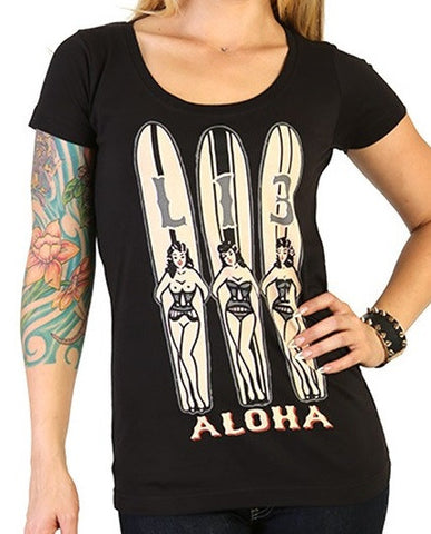 3 tiki girls scoop neck lucky 13