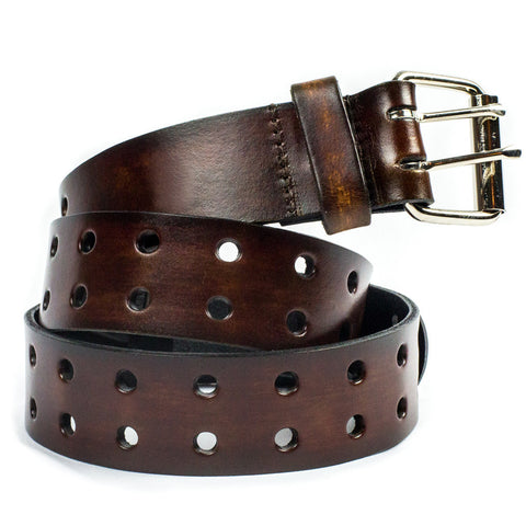 "1 1/2"" Double Hole Belt - Brown"