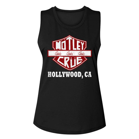 Motley Crue Sign Hollywood CA Muscle T-Shirt