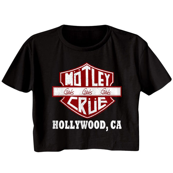 Motley Crue Sign Hollywood CA Festival Cali Crop T-Shirt